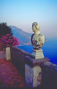 Villa Cimbrone Belvedere: Terrazzo Dell'infinito- Ravello. Italy