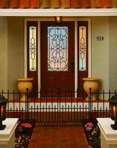 ODL puts the beauty of handcrafted glass at your door to create an unforgettable first impression & ODL Mediterranean Door Glass available on Zabitat.com ... pezcame.com