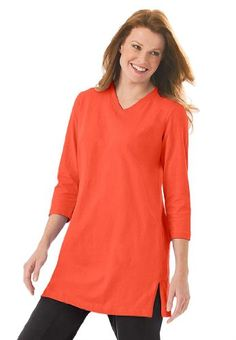 Woman Within Plus Size Top, the Perfect tunic with sleeves Plus Size Sale, Plus Size Women, Woman Within, Plus Size Outfits, Plus Size Fashion, Tunic Tops, My Style, Casual, Sleeves