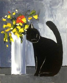 Atelier De Jiel「Black cat and his flowers」