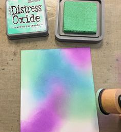 Backporch: Technique of the Week: Oxide Background Druckfarben Im Distress-look, Distress Ink Techniques, Embossing Techniques, Mixed Media Techniques, Mixed Media Journal, Distress Oxide Ink, Camping Gifts, Practical Gifts, Color Blending