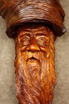 Wood carving wood spirit special tree by TreeWizWoodCarvings