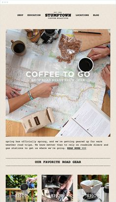 Stumptown Coffee Marketing Offer Email