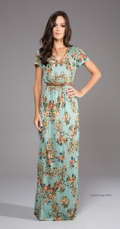Long dress with sleeves! I'm too short to pull off something like this, but I love it!