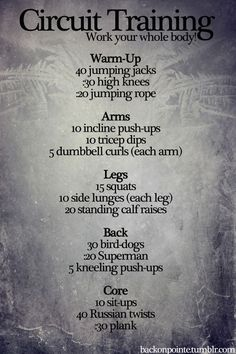 Circuit Training - at-home workout