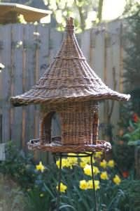 bird feeder in willow