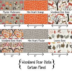 Woodland Curtain Panel with Rod Pocket by PrimalVogueHomeDecor