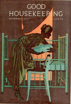 Coles Phillips - Good Housekeeping Magazine cover (November, 1916)