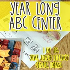 I'm a big fan of year-long literacy centers. Here is how I put together a year-long ABC center, expectations and the standards for kindergarten.