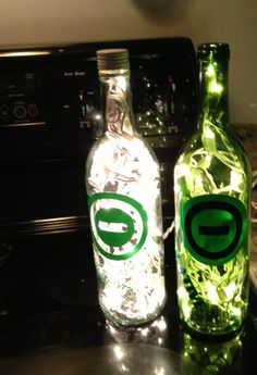 "Type O Negative Band Lighted Bottles.  Type O Negative was a Gothic metal band from Brooklyn, New York City. Their lyrical emphasis on themes of romance, depression, and death resulted in the nickname ""The Drab Four"" (in homage to The Beatles' ""Fab Four"" moniker)."