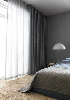 I love having the options of sheer curtains and solid curtains on same rod or sa. I love having the options of sheer curtains and solid curtains on same rod or same window up high! Home Curtains, Curtains Living, Curtains With Blinds, Double Curtains, Floor To Ceiling Curtains, Grey Curtains Bedroom, Office Curtains, Layered Curtains, Modern Curtains