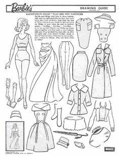 Miss Missy Paper Dolls: vintage Barbie Drawing Guide Portfolio
