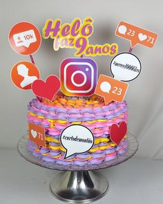 #boatardee #bolinhosdofinaldesemana Que tal Bolinho Instagram ?  #apaixonei #boloinstagram #in - divinaboleria 14th Birthday Cakes, Sweet 16 Birthday Cake, Bithday Cake, 13th Birthday Parties, Birthday Party For Teens, Instagram Birthday Party, Snapchat Birthday, Instagram Party, Youtube Party