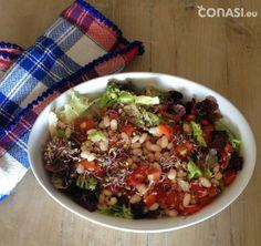 Ensalada fresca Fresco, Cobb Salad, Sprouts, Food, Lentils, Legumes, Vegetables, Red Cabbage, Nutritional Yeast