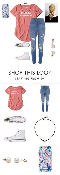 """""""Carrie & I Are Going Skating Today!!👌🏻"""" by jweber-14 ❤ liked on Polyvore featuring Hollister Co., River Island, Converse and Lilly Pulitzer"""