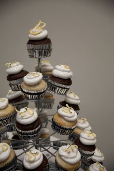 Cupcakes made by the grooms cousin