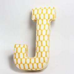 Handmade fabric Letter J new by Forestgirldesign on Etsy, $18.00
