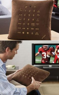 pillow remote control. This one's for you @Marvin Gardens