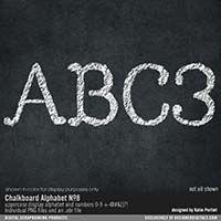 Chalkboard Alphabet No. 08