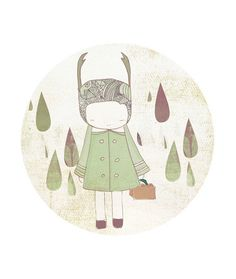 Hey, I found this really awesome Etsy listing at http://www.etsy.com/listing/60572523/kid-room-art-child-decor-deer-girl-and