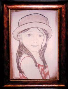 Kiedyś próbowałam portretu... Oto jedna z moich cór w 2004