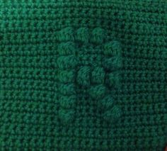 How to crochet a square with bobble stitch chart letter R