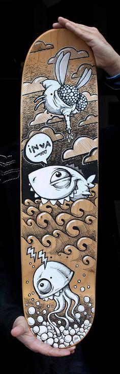 Skateboard Markers Art