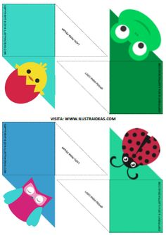 Separadores de libros para descargar | IlustraIdeas Creative Bookmarks, Corner Bookmarks, Bookmarks Kids, Bunny Origami, Art Origami, Fun Crafts, Crafts For Kids, Paper Crafts, Cat Coloring Page