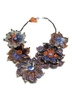 PERLINE DI SAGGEZZA: COLLEZIONI *COLLECTIONS*, wonderful #crochet necklace