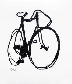 Bicycle Art Print - BSA Black on White. $20.00, via Etsy.