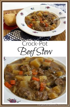 Crock Pot Beef Stew - Prep the ingredients and let the crock-pot do the cooking!  virginiasweetpea.com