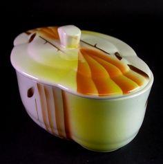 schöne Art Deco Keksdose Gebäckdose mit Spritzdekor - Annaburg