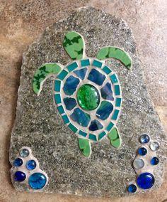 Mosaic turtle stepping stone