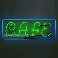 """neon sign cafe 43"""" x 18"""""""