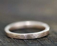 Gold Wedding Band by monkeysalwayslook on Etsy, $390.00 love the rustic look of this band