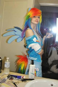 Rainbow Dash Cosplay With Music Amie Chan Mobile