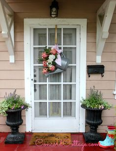 Welcome Home Summer Tour with Balsam Hill, Balsam Hill, Tuscan Urns, planting flowers in Urns