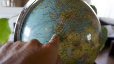 "Better to see something once, than hear about it a thousand times! Our globe is saying ""time to go travel"" :)"