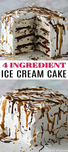 Easy Ice Cream Cake Recipe - Ice Cream Sandwich Cake - - This is the best, Easy Ice cream Cake Recipe. This easy ice cream sandwich recipe can be thrown together in no time making it the best ice cream cake recipe. Easy Ice Cream Sandwich Recipe, Homemade Ice Cream Sandwiches, Easy Homemade Ice Cream, Ice Cream Box Cake Recipe, Icecream Sandwich Cake, Ice Cream Desserts, Köstliche Desserts, Ice Cream Recipes, Frozen Desserts