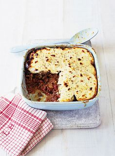 This lamb moussaka recipe makes two meals for four so you can eat one and freeze the other for up to 1 month.
