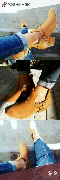 //The Mischa// Camel cutout ankle booties Brand new Never been worn  Comes in original box No trades!! Price is firm!! Many more sizes Available True to size Heel height 2.75 inches Shoes Ankle Boots & Booties