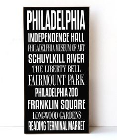 Look at this Philadelphia Subway Wall Sign on #zulily today!