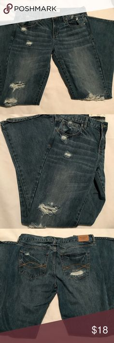 Abercrombie jeans 👖 Same as my other listing except these are not as dark of a wash and are a bootcut. . Distressed look Abercrombie & Fitch Jeans Boot Cut