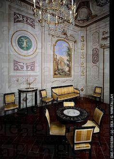 Hercules room, with decorations by Giuseppe Maria Terreni (1739-1811), 1773. Villa del Poggio Imperiale (Villa of the Imperial Hill), Florence, Italy , 18th century.