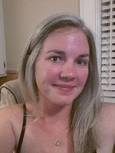 Long gray hair, 34