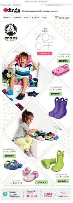 Newsletter para marca Crocs.