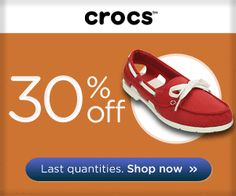 30% OFF Boat Shoe for women!  Grab yours @ www.Crocs.com.au