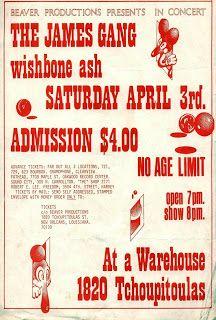 The James Gang, Wishbone Ash at a Warehouse