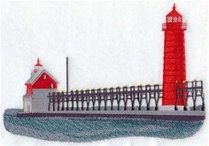 Machine Embroidery Designs at Embroidery Library! - Grand Haven Lighthouse