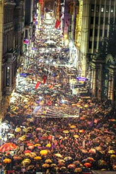 March 8th The March for Inyernational Women's Day at Beyoglu. Colours lights flags and the history ...perfect match for bright future of this country
